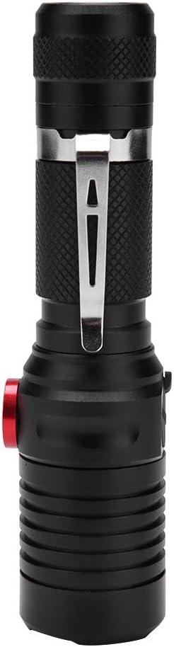 atenuaci/ón port/átil estupenda Brillante port/átil de USB USB Recargable de la antorcha del Clip de la Pluma para el Acampar Riuty Linterna de Mano