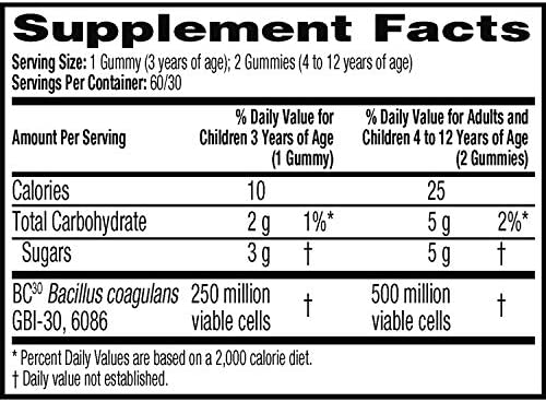 51Z6sta8o7L. AC - Digestive Advantage Daily Probiotic Gummy For Kids, 80 Count (Pack Of 1), Multi
