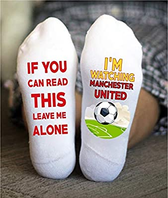 Manchester United Socks Football Funny Birthday Gift Game Day