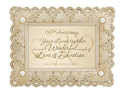 CB Gift Heartfelt Colletion 60th Anniversary Framed Tabletop Gift