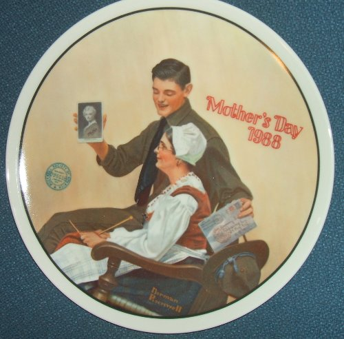 "Art Collector Plate Collection - Norman Rockwell: ""My Mother"" Rockwell's Mother's Day Collection--Authentic Registered Collector Plate"