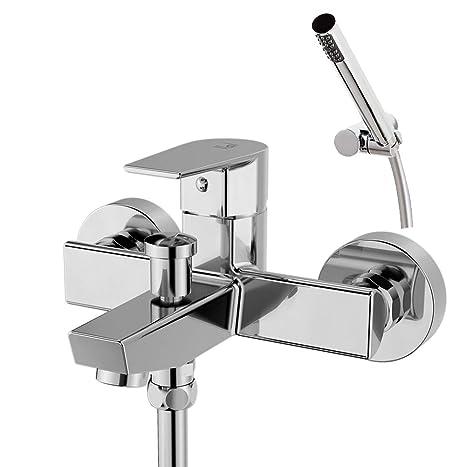 Galindo Aroha 4603000 Grifo baño - ducha, Monomando Cromo con Accesorios de Ducha