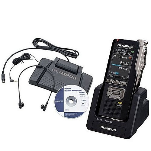 Olympus DS-3500DT-KIT Professional Digital Dictation and Transcription Starter Kit with Multi-Function Cradle