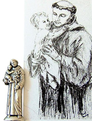 Westman Works St Anthony Patron Saint of Hopeless Lost Causes Prayer Kit with Pocket Saint Statue and Holy (Anthony Pocket)