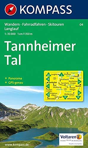 Tannheimer Tal Karte.Tannheimer Tal Wander Bike Und Skitourenkarte Mit