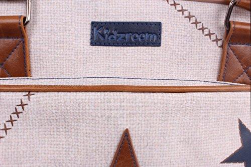 Kidz Room 030–�?755–�?Bolso cambiador Superstar XL, 30x 48x 16cm, color azul arena