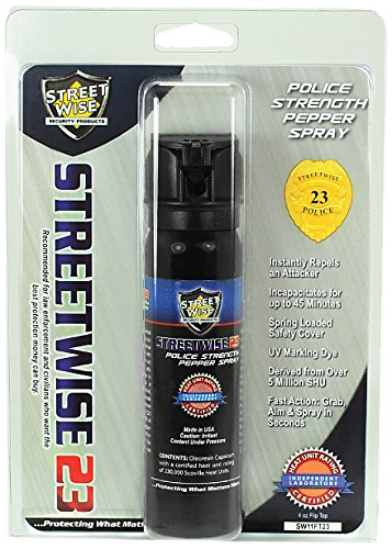 Streetwise Security Products Police Strength Streetwise 23, 4-Ounce Flip Top by Streetwise Security Products