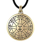 Bronze Talisman for Safe Travel Pendant Necklace