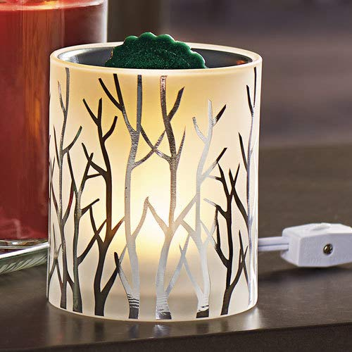 Yankee Candle Silver Forest Glow Collection with LED Electric Tart Melts Warmer/Burner