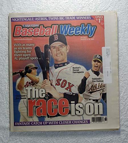 Nomar Garciaparra, Jim Thome & Tim Hudson - The Race is On - Baseball Weekly Magazine - August 8, 2001 ()