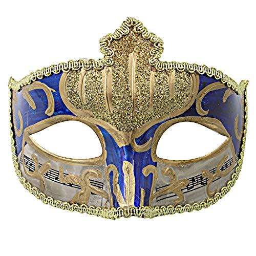 (Hophen Mardi Gras Half Masquerades Venetian Eye Masks Halloween Dance Party Costumes)