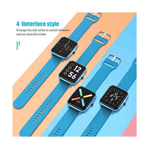 Timoom Montre Connectée Femmes Homme, F2 Fitness Trackers d'activité Smartwatch Montre Podometre Cardiofrequencemètre 1…