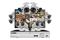 Lorex Twelve camera HD 1080p security system including 4 ultra wide angle security cameras plus LED monitor