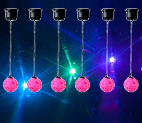 6) American DJ ADJ Jelly Globe Rotating Disco Ball Dance Floor LED Effect Lights (Color Panel Chauvet)
