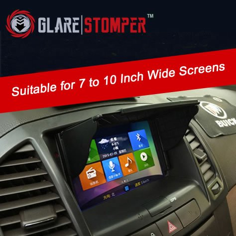 Car In Dash GPS/DVD/LCD Visor | Sun Shade | 7 to 10 Inch Universal (Gps Anti Glare)