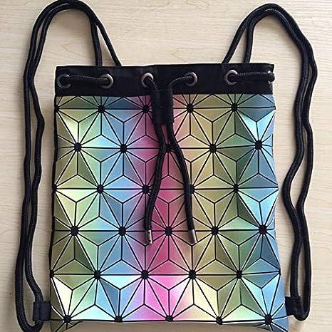 Amazon.com: Mochila luminosa con cordón para mujer, con ...