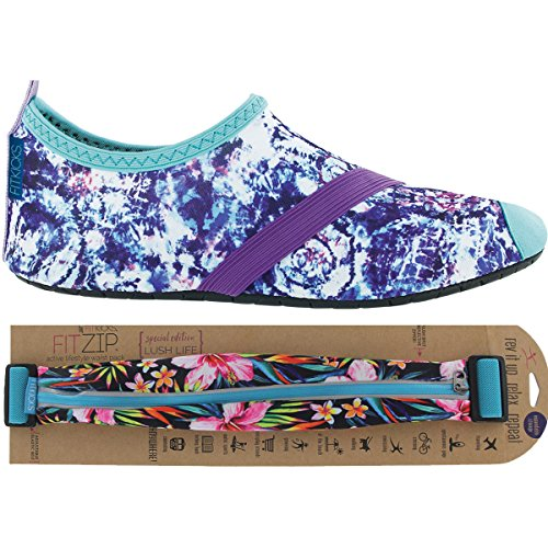 Fitkicks Zapatos De Mujer Con Fitzip Waist Pack, Cloud Burst Shoe Lush Life