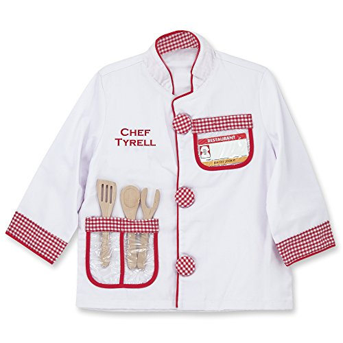 - Melissa & Doug Personalized Chef Role Play Costume Set