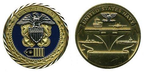 US Navy Captain Challenge - Challenge Coin Captain