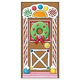 Beistle Gingerbread House Door Cover, 30-Inch x 5'