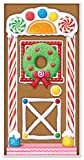 Beistle Gingerbread House Door Cover, 30-Inch x 5'