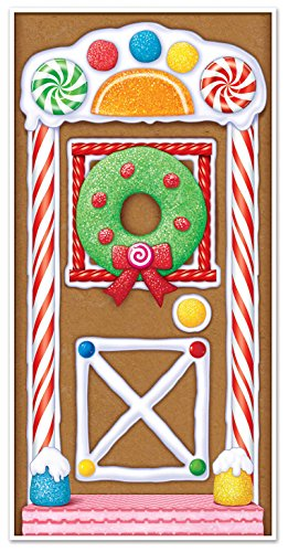 Christmas Decorations Office (Beistle 20017 Gingerbread House Door Cover, 30