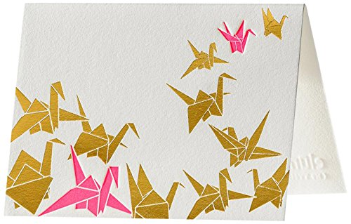 Origami Flock Letterpress Thank You Notes