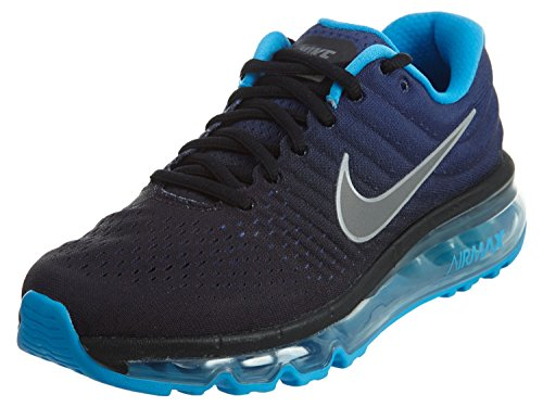 Nike Air Max 2017 (GS) Running Trainers 851622 Sneakers Shoes (5 Big Kid M, black summit white 002)