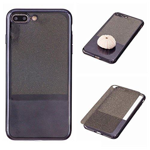 MXNET IPhone 7 Plus Fall, galvanisierender Spiegel TPU schützender rückseitiger Abdeckungs-Fall CASE FÜR IPHONE 7 PLUS ( Color : Black )