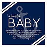 Nautical Bring a Book for Baby Boys Invitation Insert Card Set 25pc.