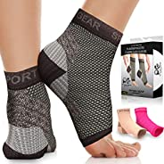 Plantar Fasciitis Socks with Arch Support for Men & Women - Best 24/7 Compression Socks Foot Sleeve for Ac