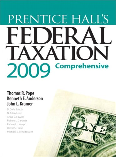 Prentice Hall's Federal Taxation, 2009: Comprehensive, 22nd Edition