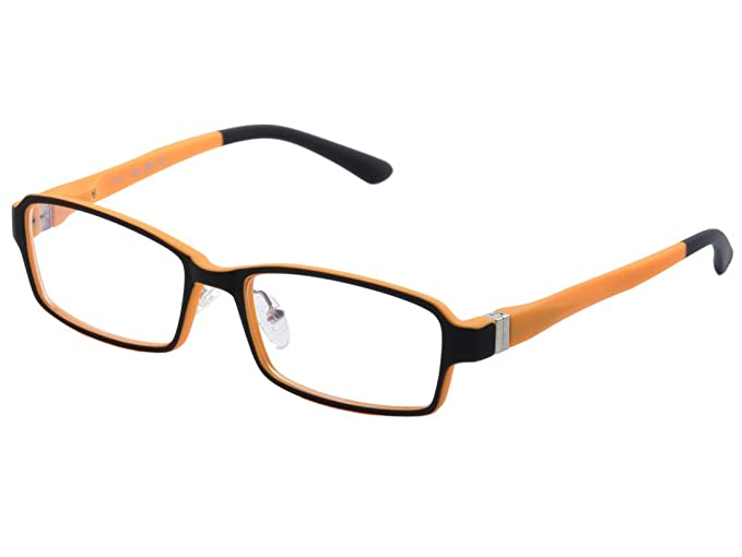6ae5a74349 De Ding Children s Acetate Optical Eyeglasses Frames With Spring Hinge  (Black Orange