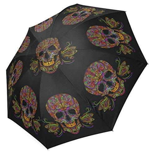 InterestPrint Hipster Cool Colorful Sugar Skull