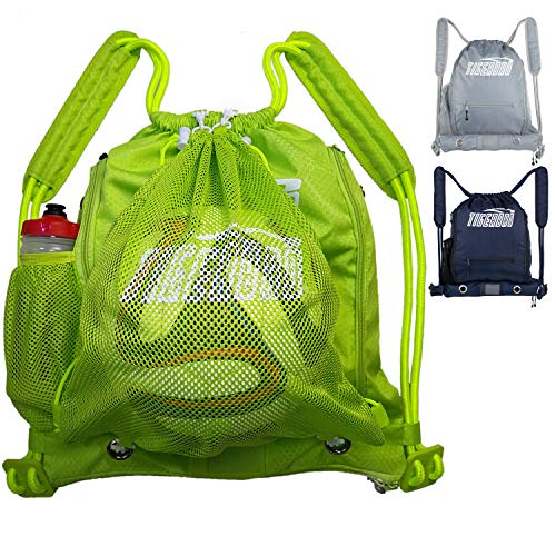 Tigerbro Soccer Backpack for Youth Kids Girls Boys Women Men Sports Bag for Basketball Football with Ball Holder Shoe Compartment Waterproof – DiZiSports Store