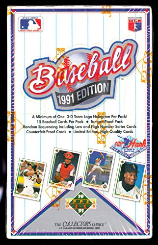1991 Upper Deck Baseball Card Wax Pack Box Find The Hank Aaron Insert Set