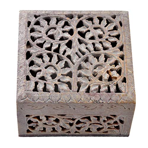 Hashcart Decorative HandMade Jewellery Box for Storage  Store Precious Jewellery in Royal Style  Beautifulf Soapstone Box for Girls