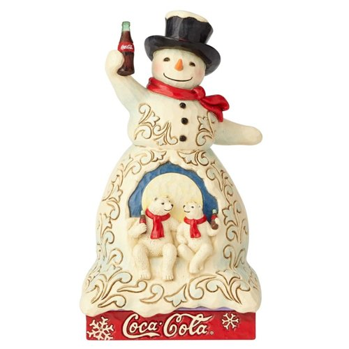 Department56 Enesco 7.2 Inches Height Width x 4.13 Inches Length Coca Cola Snowman Collectible Figurine, Cream]()