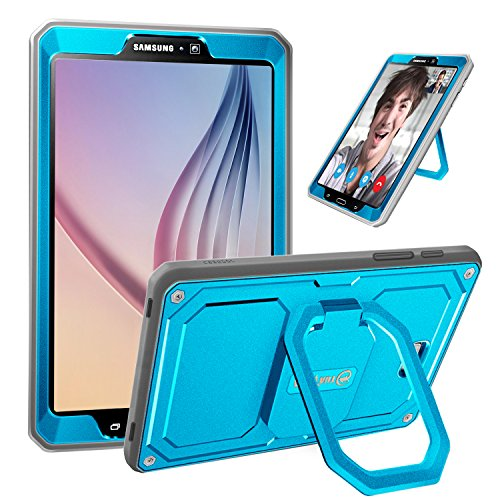 Fintie Case for Samsung Galaxy Tab A 10.1 (2016 NO S Pen Version), [Tuatara Magic Ring] 360 Rotating Multi-Functional Grip Stand Shockproof Cover with Built-in Screen Protector, Sky Blue