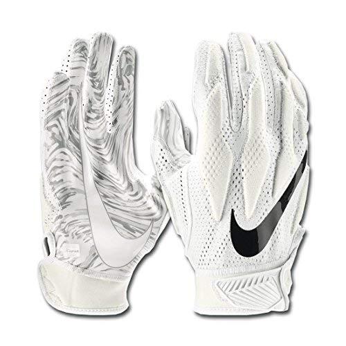 (Nike Men's Vapor Knit Skill Football Gloves White/Grey (Small))