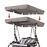 Thaisan7 Taupe Swing Top Seat Cover Canopy Replacement Porch Patio Outdoor for Home & Garden Decore Relax Day (Canopy Top Size: 75' L X 52' W)