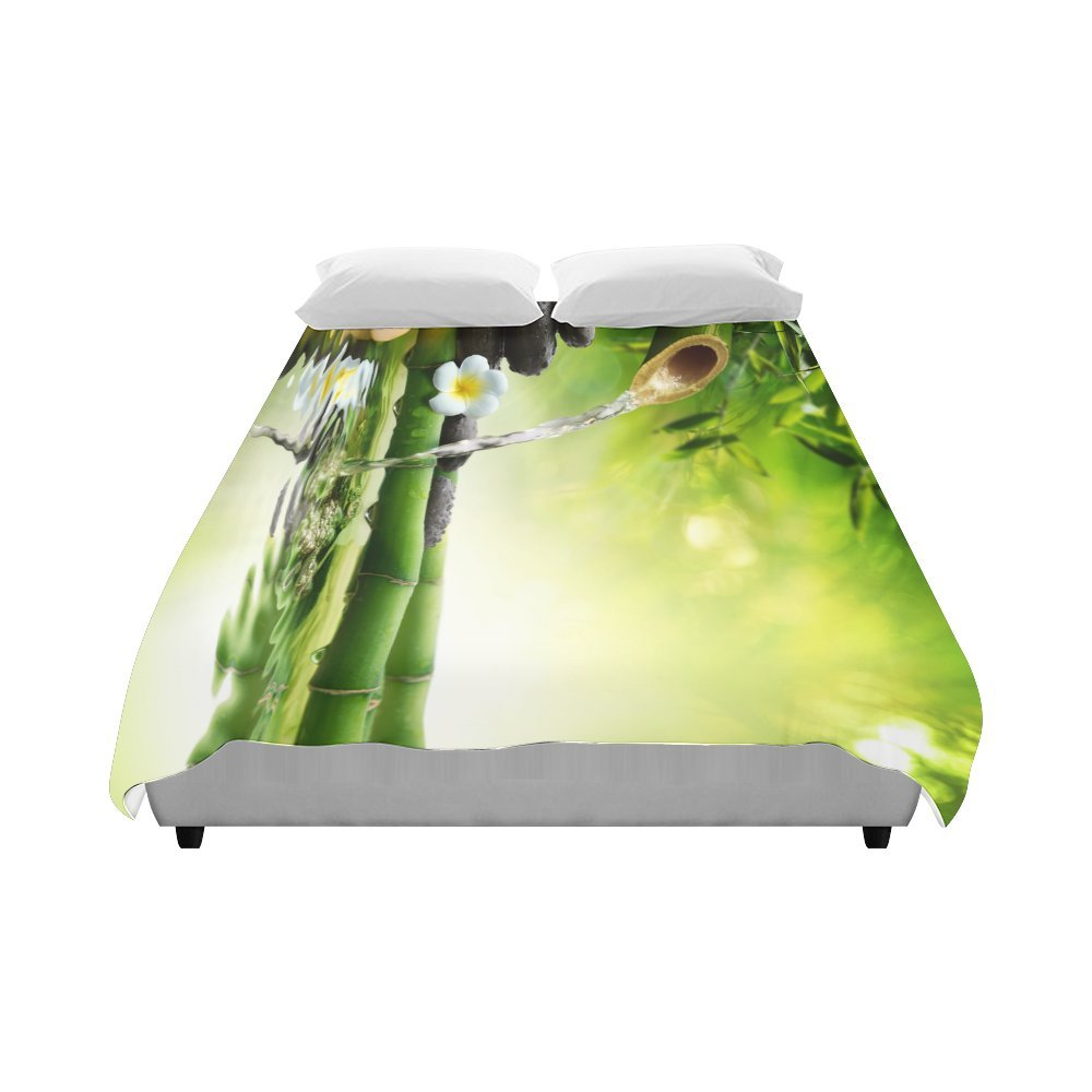your-fantasia Japanese Bamboo Fountain Spa Stones Flow Water Home Bedding Duvet Cover Quilt Cover 86 x 70 Inches by your-fantasia (Image #3)