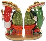 Hot Chili Peppers Chefs Southwestern Cacti Salt & Pepper Shaker S/P Set