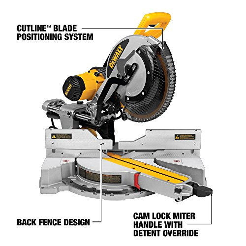 DEWALT 12-Inch Sliding Compound Miter Saw, Double Bevel (DWS780)