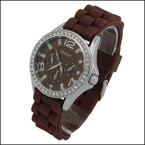 Reloj mujer Ernest pedrería pulsera silicona/goma Mode Fashion Watch Fantasía