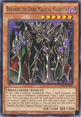 Yu-Gi-Oh! - Breaker the Dark Magical Warrior (DUEA-EN040) - Duelist Alliance - 1st Edition - Rare