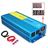 IpowerBingo Car Boat 1500W/3000W(Peak) Pure Sine Wave Power Inverter DC- AC 12V-110V LCD DISPLAY