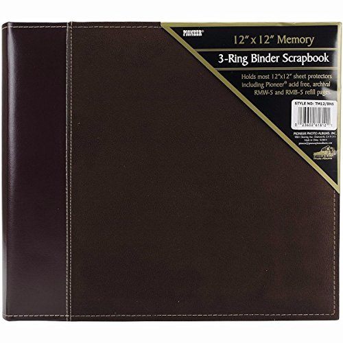Suede 12x12 Album - Pioneer 12 Inch by 12 Inch 3-Ring Faux Suede Cover Scrapbook Binder, Brown