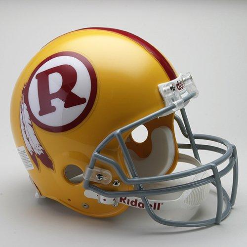 Helmet Throwback Authentic Redskins - Riddell Washington Redskins 1970-1971 Authentic Throwback Helmet - Washington Redskins Red One Size