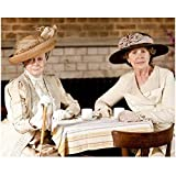 Downton Abbey Maggie Smith as Violet Crawley, Dowager Countess of Grantham Seated Drinking Tea 8 x 10 Inch Photo